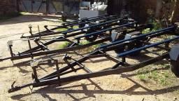 Carretas Rodoviárias para barcos - pronta entrega
