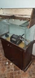 Aquario com movel armário e bomba filtro