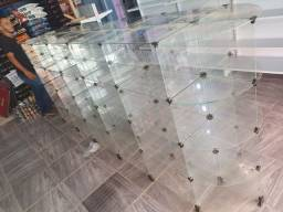 Gondola central de vidro