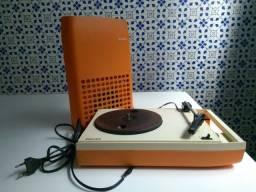 Vitrola portátil Philips anos 1970