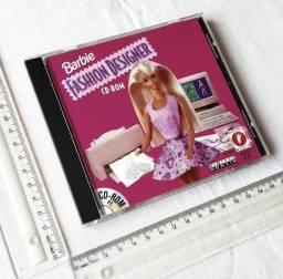 Raro - Jogo Antigo PC - Original - Barbie Fashion Designer - Mattel - 1996 Mídia Física