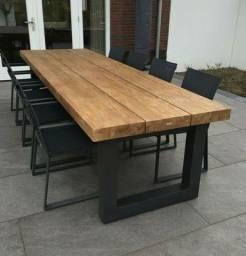 Vendo lindas mesas de argelin pedra