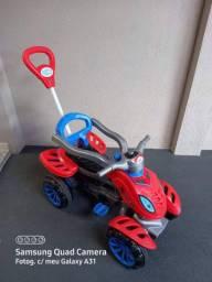 Quadriciclo infantil a pedal para passeio homem aranha