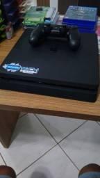 PS4 SLIM 500GB + 1 CONTROLE + 3 JOGOS<br>R$ 1.800,00