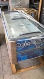 Ilha / freezer para congelados ou resfriado 2,00m Fricon - supermercado / padaria