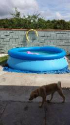 Piscina 3800 litros com borda inflavel