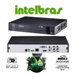Dvr Intelbras MultiHD 720P 4 canais 5em1 HDcvi,tvi,ahd,IP 3x de R$ 146,63
