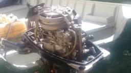 Motor de popa yamaha 8hp - 1990