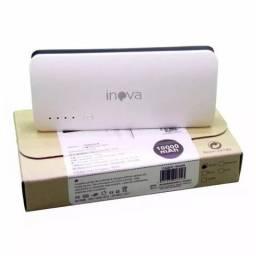 Carregador portátil Inova carrega 50% bateria do celular