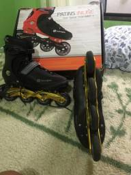Patins in line Oxer Speed 7000 Preto/dourado