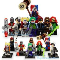 Bonecos Lego Marvel Esquadrão Suicida - C/ Equipamento