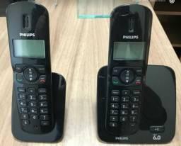 Telefone sem fio com identificador de chamadas com ramal - Philips