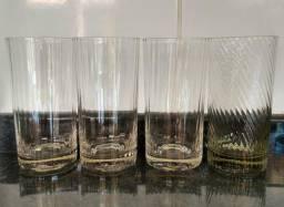 4 copos de vidro