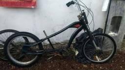 Bicicleta chopper aro26x24 preta