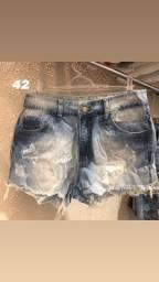Short feminina jeans