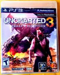 Jogo De Videogame Uncharted 3 Para Sony Playstation 3 (PS3), Original