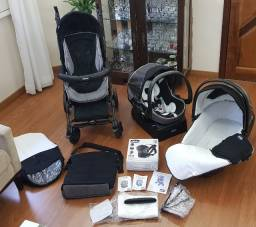 Chicco Trio Living Smart: carrinho de bebê, bebê conforto, moises e cadeirinha