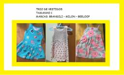 Lote 3 vestidos infantis