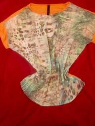 Camiseta em Malha e Seda
