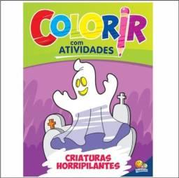 Colorir Com Atividades: Criaturas Horripilantes