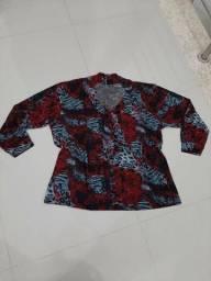 Blusa estampada vermelha G2 (nova)