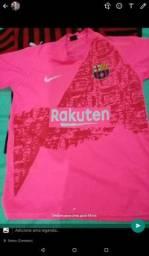 Camisa do barcelona rosa