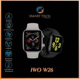 Relógio Inteligente New 26 disponivel na cor Prata e Preto, Preço promocional