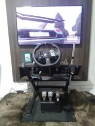 Volante Logitech G920 ( xbox One ou Pc ) + Controle Xbox Adaptado com freio de Mão