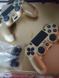 Ps4 Slim 1 TB  Gold com 2 controles + jogos top