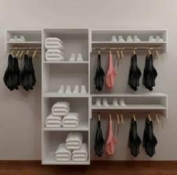 Kit Loja completa de Roupas Estante Expositor + araras roupas