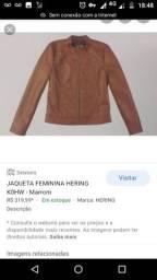 Jaqueta marron da hering
