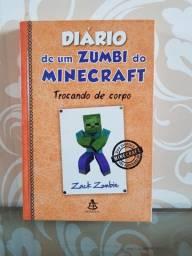 """Livro """"Diário de um zumbi do Minecraft - Trocando de corpo"""""""