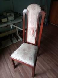 Jogo de cadeiras mogno usadas