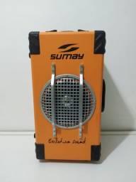 Caixa de Som com rádio FM, USB, cartão de memória SD e Bluetooth - 60W