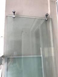 Box Para Banheiro Vidro temperado 8mm Incolor Cromado. Modelo Elegance 1.20m R$ 250