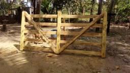 Porteira feita com madeira de Jaqueira