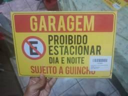 Placa Garagem Proibido Estacionar 20x30cm Guincho Novo