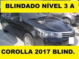 Reserve p/ não perder! Corolla 2.0 Xei 2017 *Blindado 3A*. Oportunidade!