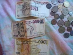 Notas e moedas antigas...