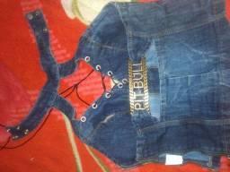 Vendo minha blusinha jeans da Pitbull,150
