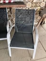 Kit 4 cadeiras de alumínio