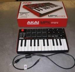Troco - Teclado midi Usb Controlador Akai MPK Mini Mk2 25 Teclas