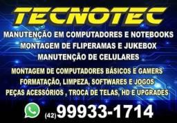 Peças e manutenção de computadores e notebooks