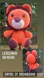 Leãozinho amigurumi