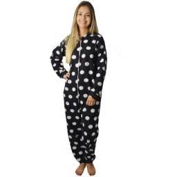Pijama Longo Inverno Frio Macacão Soft