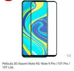 Película 3D Xiaomi Note 9S/ Note 9 Pro /10T Pro /10T Lite  Kit com 04 (quatro) películas