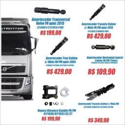 Volvo FH/FM/VM Farol Lanterna Motor Cambio Esticador Sensor Amortecedor Cabine