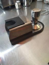 Tamper e suporte tamper para café expresso