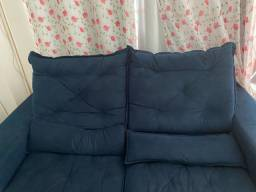 Sofá retrátil cor azul