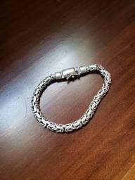 Pulseira de prata bali peruana com fecho anti-furto